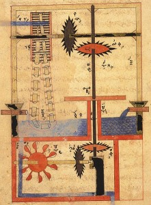 An ancient Arabic machine  manuscript
