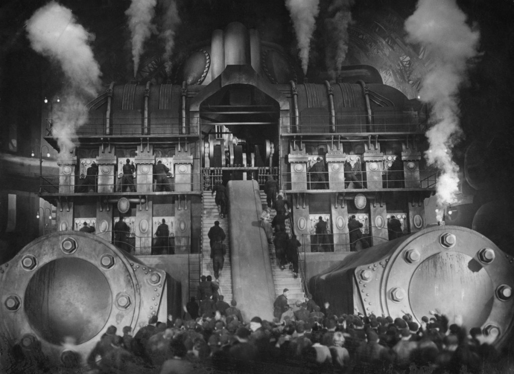 The workers and the machines in Metropolis (1927)